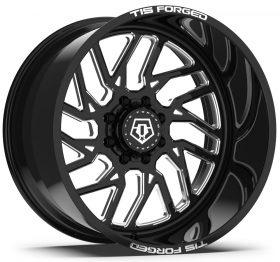 TIS Custom Wheels F51BM1 GLOSS BLACK MILLED