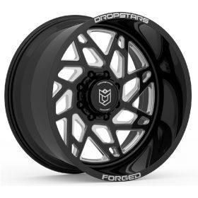 Dropstars Custom Wheels F60BM1 GLOSS BLACK MILLED