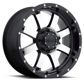 Gear Alloy Custom Wheels 726M Big Block GLOSS MACHINED BLACK