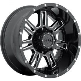 Gear Alloy Custom Wheels 737BM Challenger GLOSS BLACK MILLED