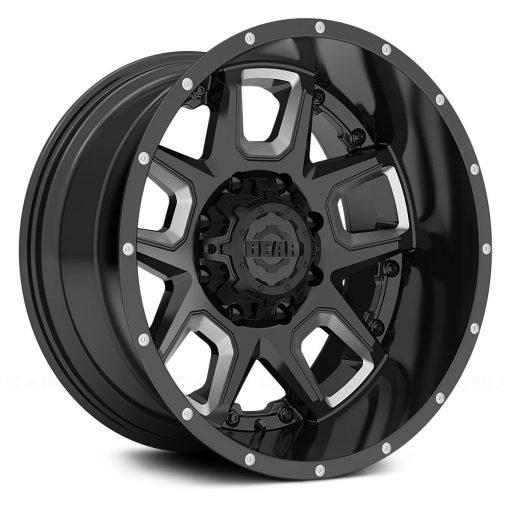 Gear Alloy Custom Wheels 742BM Kickstand GLOSS BLACK MILLED