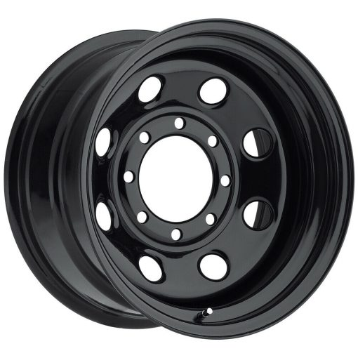 Pacer Wheels 297B Black Soft 8 GLOSS BLACK