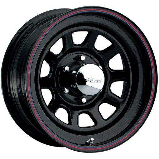 Pacer Wheels 342B Black Daytona BLACK RED BLUE