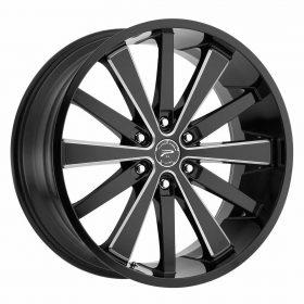 Platinum Custom Wheels 270BM Pivot GLOSS BLACK MILLED