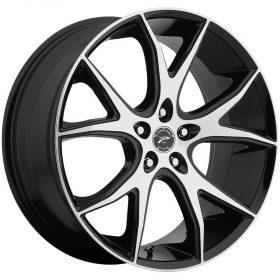 Platinum Custom Wheels 419U Recluse GLOSS MACHINED BLACK