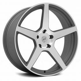 Platinum Custom Wheels 432GN Elite Gloss Machined Gunmetal