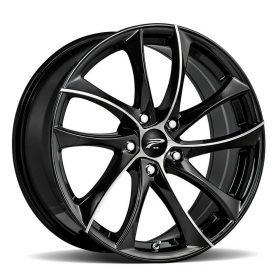 Platinum Custom Wheels 438U Gyro GLOSS MACHINED BLACK