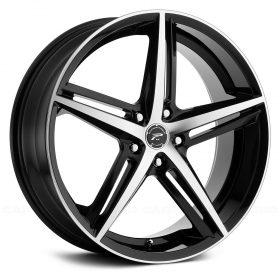 Platinum Custom Wheels 440U Smooth Trip GLOSS MACHINED BLACK