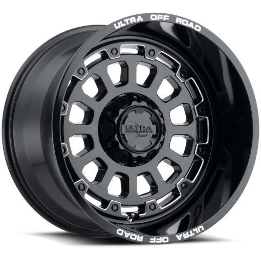 Ultra Custom Wheels 111BM X111 GLOSS BLACK MILLED