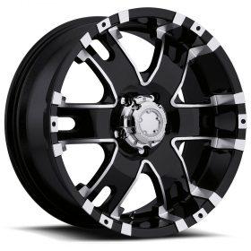 Ultra Custom Wheels 201B Baron GLOSS BLACK MACHINED