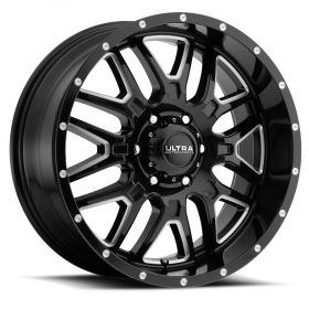 Ultra Custom Wheels 203BM Hunter GLOSS BLACK MILLED