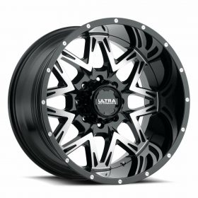 Ultra Custom Wheels 254U Carnivore GLOSS MACHINED BLACK