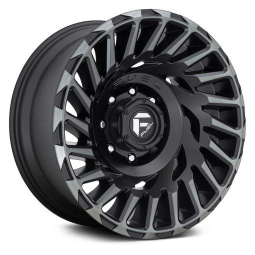 Fuel Custom Wheels D683 CYCLONE MATTE MACHINED DDT