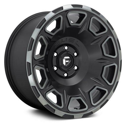 Fuel Custom Wheels D686 VENGEANCE MATTE BLACK DDT