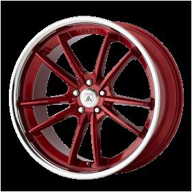 Asanti Black Wheels ABL-23 DELTA CANDY RED WITH CHROME LIP