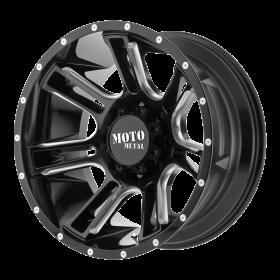 Moto Metal Custom Wheels MO982 AMP BLACK MILLED