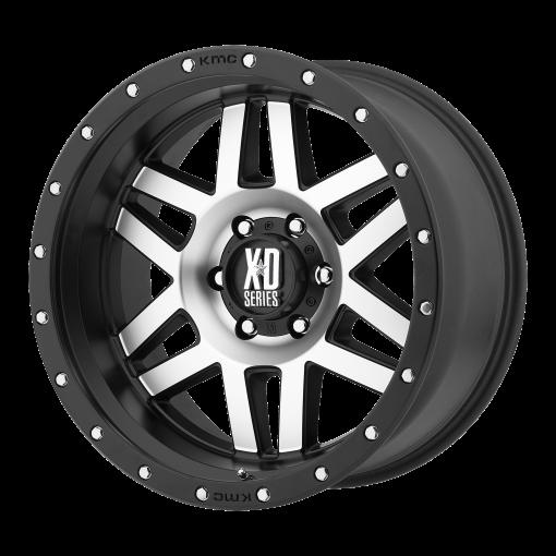 XD Series Custom Wheels XD128 MACHETE MACHINED BLACK