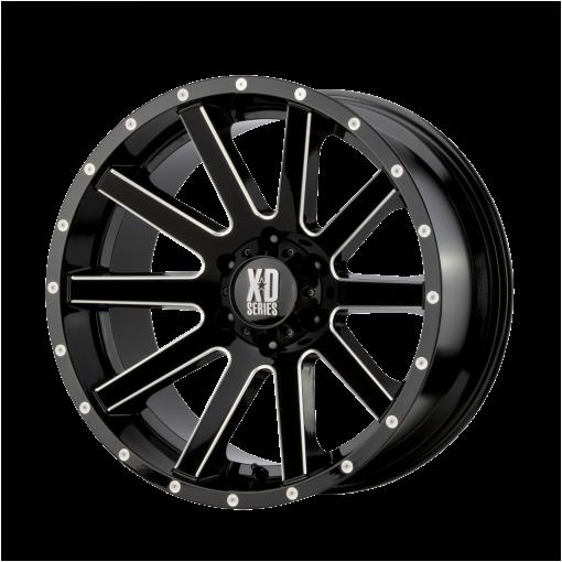 XD Series Custom Wheels XD818 HEIST BLACK MILLED