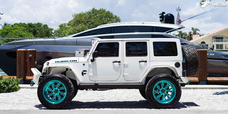 Jeep Wrangler 24 Fuel FF41 5 Lug Wheels