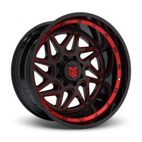 657BMR Black Red