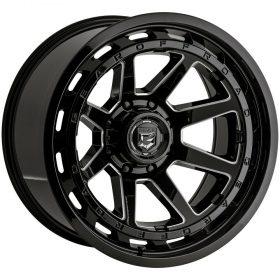 Gear Alloy Custom Wheels 754BM BLACK MILLED