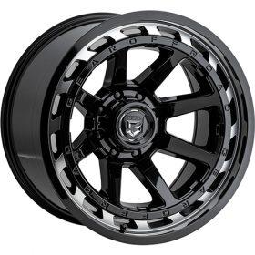 Gear Alloy Custom Wheels 754MB MACHINED BLACK