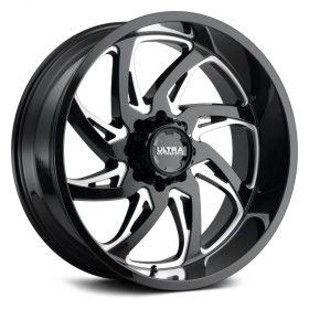 Ultra Custom Wheels 230BM Villain BLACK MILLED