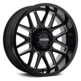 Ultra Custom Wheels 231BM Butcher BLACK MILLED