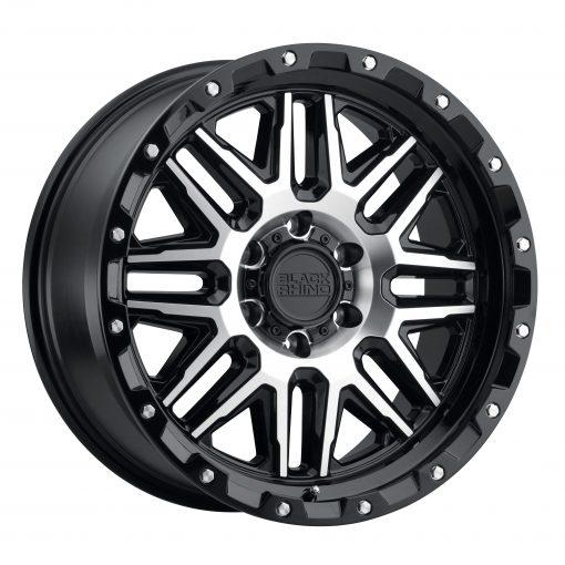 Black Rhino Wheels ALAMO GLOSS BLACK W/MACHINED FACE & STAINLESS BOLTS