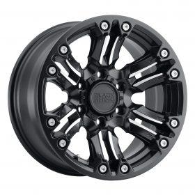 Black Rhino Custom Wheels ASAGAI MATTE BLACK W/MACHINED SPOKE & STAINLESS BOLTS
