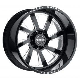 Black Rhino Custom Wheels BLASTER GLOSS BLACK W/MILLED SPOKES LEFT