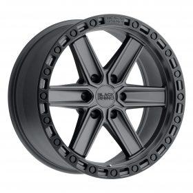 Black Rhino Custom Wheels HENDERSON GUN BLACK W/BLACK LIP EDGE & BLACK BOLTS