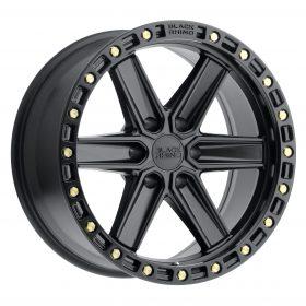 Black Rhino Custom Wheels HENDERSON MATTE BLACK W/BRASS BOLTS