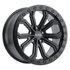 Black Rhino Custom Wheels TRABUCO MATTE BLACK W/BLACK BOLTS