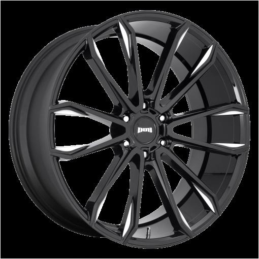 DUB Wheels S252 CLOUT GLOSS BLACK MILLED