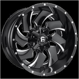 Fuel Custom Wheels D239 CLEAVER GLOSS BLACK MILLED