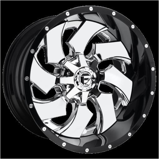 Fuel Wheels D240 CLEAVER CHROME PLATED GLOSS BLACK LIP