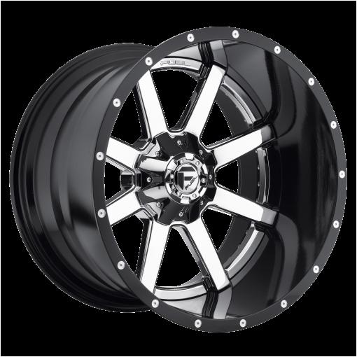Fuel Wheels D260 MAVERICK CHROME PLATED GLOSS BLACK LIP