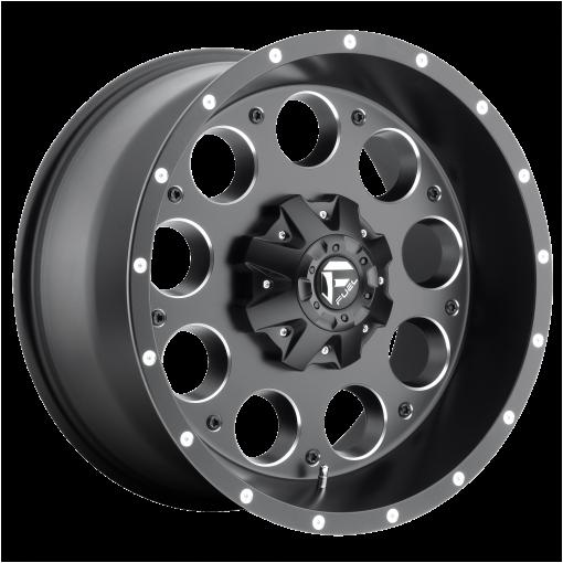 Fuel Wheels D525 REVOLVER MATTE BLACK MILLED