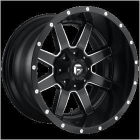 Fuel Custom Wheels D538 MAVERICK MATTE BLACK MILLED