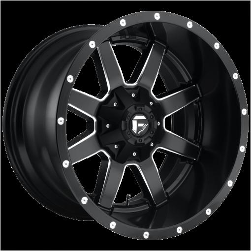 Fuel Wheels D538 MAVERICK MATTE BLACK MILLED