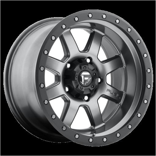 Fuel Wheels D552 TROPHY MATTE GUN METAL BLACK BEAD RING