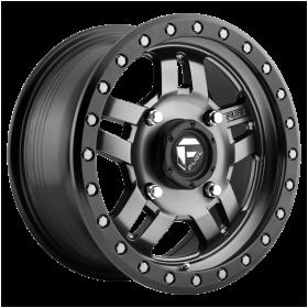 Fuel Custom Wheels D558 ANZA MATTE GUN METAL BLACK BEAD RING