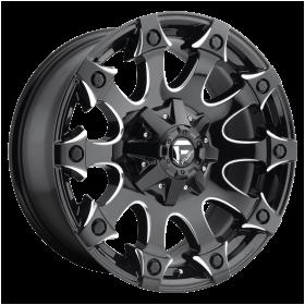 Fuel Custom Wheels D578 BATTLE AXE GLOSS BLACK MILLED