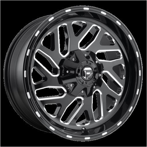 Fuel Wheels D581 TRITON GLOSS BLACK MILLED