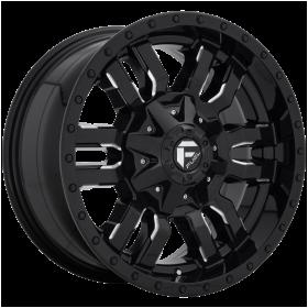 Fuel Wheels D595 SLEDGE GLOSS BLACK MILLED