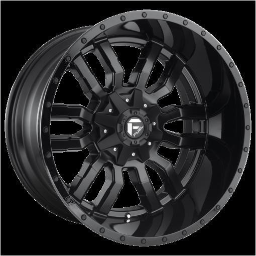 Fuel Wheels D596 SLEDGE MATTE BLACK GLOSS BLACK LIP