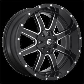 Fuel Custom Wheels D610 MAVERICK GLOSS BLACK MILLED