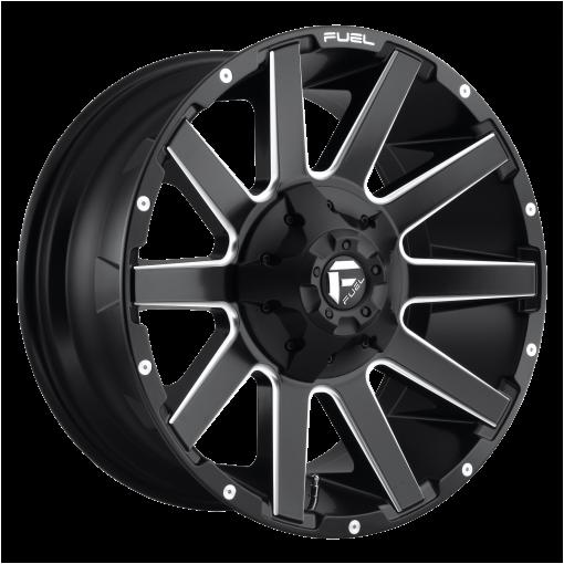 Fuel Wheels D616 CONTRA MATTE BLACK MILLED