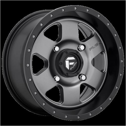 Fuel Wheels D619 PODIUM MATTE GUN METAL BLACK BEAD RING